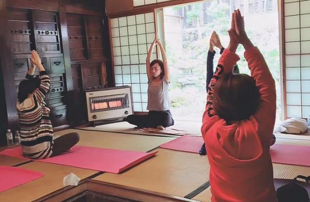 古民家で開催されたイベント「美骨盤yoga」